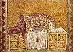 Das letzte Abendmahl. Mosaik um 520. KK
