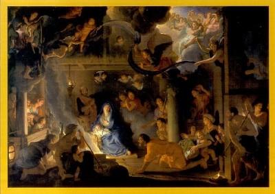 Brun, Charles. Die Anbetung der Hirten, 1689. DK
