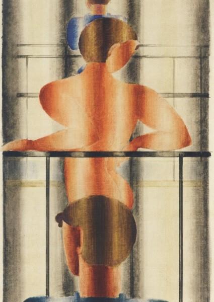 Oskar Schlemmer. Geländerszene, 1932