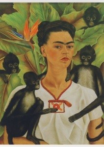 Frida Kahlo. Selbstbildnis mit Affe, 1943