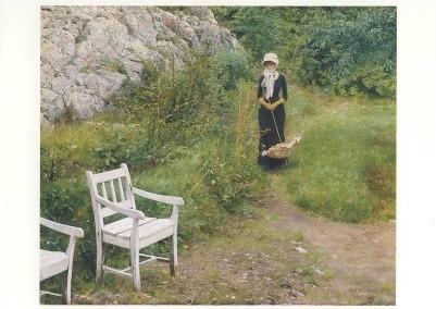 Erik Werenskiold. In vertrauter Umgebung, 1882. KK