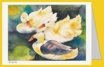 Decker, M. Drei Enten im Wasser. DK