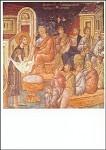 Byzantinisch. Fusswaschung, 14. Jh. KK