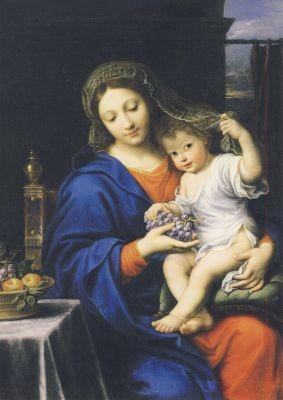 Pierre Mignard. Madonna mit den Trauben, 1640-50