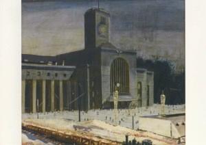 Nägele, Reinhold. Hauptbahnhof in Stuttgart, 1923