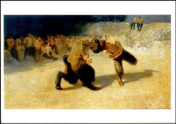 Stuck, F. Kämpfende Faune, 1889. KK