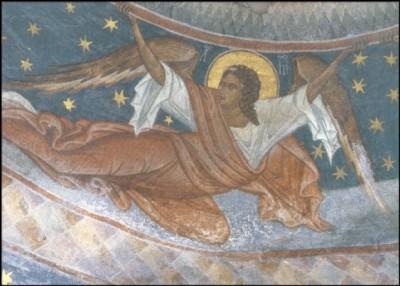 Erzengel Michael. Moldovita, Klosterkirche, Rumänien. KK