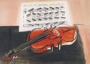 Raoul Dufy. Die rote Geige (Violine), 1948. KK