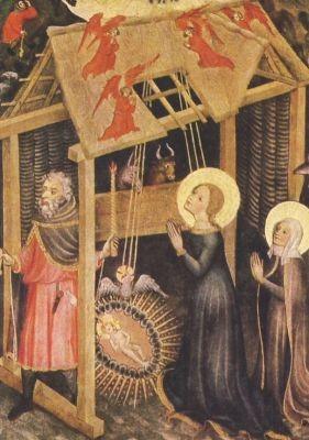 Konstanzer Maler. Verehrung des Christuskindes, um 1400. KK