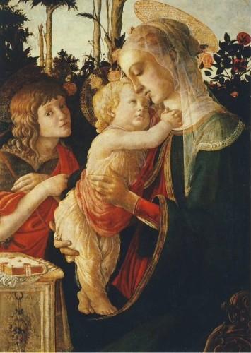 Botticelli. Madonna mit dem Kind und dem Jesusknaben.