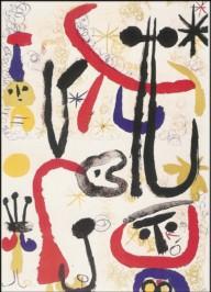 Joan Miró. Personnage et animaux. KK