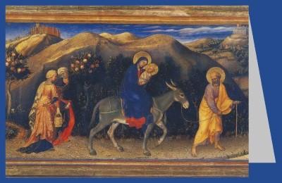 Gentile da Fabriano. Flucht nach Ägypten, 15 JH.