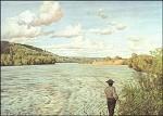 Hans Thoma. Am Rhein bei Säckingen, 1890. KK