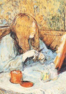 Henri de Toulouse-Lautrec. Beim Ankleiden