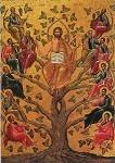 Byzant.Christus und die Apostel. (Ich bin der Weinstock). KK