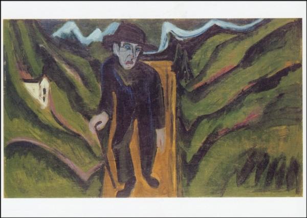 Ernst Ludwig Kirchner. Der Wanderer, 1922. KK