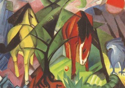 Pferde und Adler 1912, Marc