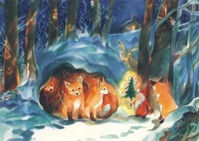 Marie Laure Viriot. Weihnachten im Wald