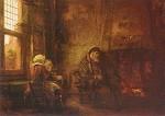 Rembrandt. Tobit und Anna warten auf ihren Sohn. KK