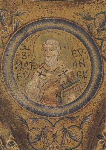 Evangelist Matthäus. Narthex, San Marco, Venedig, 1220-1300.