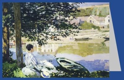 Claude Monet. Am Ufer der Seine bei Bennecourt, 1868