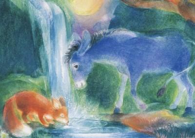 Marie-Laure Viriot. Esel und Fuchs.