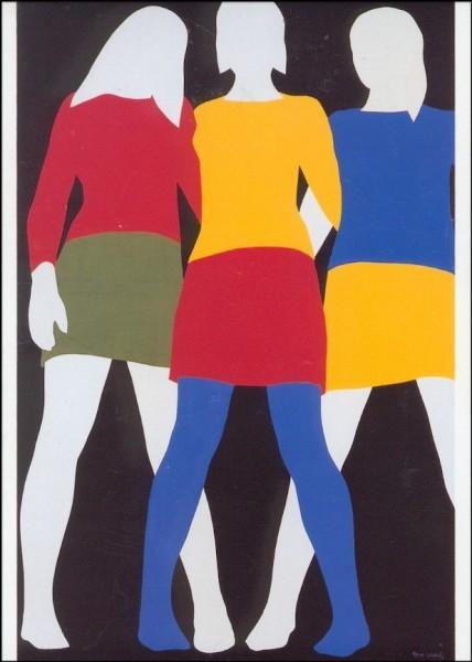 Gertsch, Franz. Mireile, Colette, Anne, 1967. KK