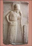 Griechisch. Denkende Athene. KK