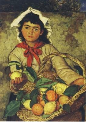 Hans Thoma. Zitronenverkaeuferin, 1880
