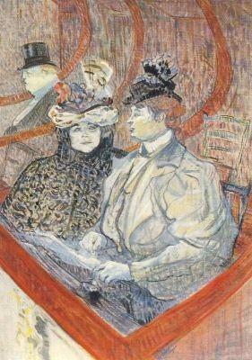 Henri de Toulouse-Lautrec. Theaterloge, 1896/97