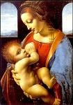 Leonardo da Vinci. Madonna Litta. KK
