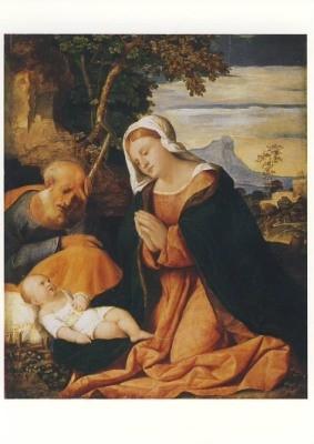 Palma Vecchio. Die Heilige Familie, um 1515