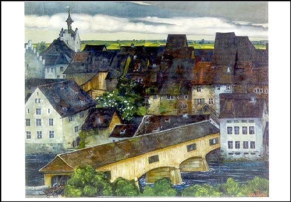 Roesch, Carl. Ansicht von Diessenhofen, 1901. KK
