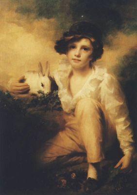 Raeburn. Junge mit Kaninchen. KK