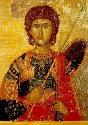 Byzantinische Ikone. Sankt Georg. KK