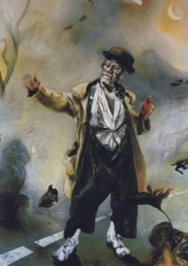 Hambling, Maggi. Max als Godot´s Vladimir, 1981. KK