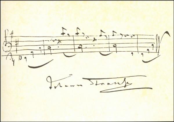 Strauss, Johann. An der schönen blauen Donau. KK