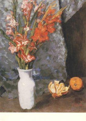 Schuch, C. Gladiolen und Apfelsinen. KK