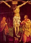 Grünewald, M. Christus am Kreuz mit Maria und Johannes. KK