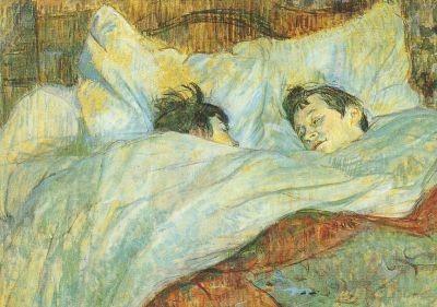 Henri de Toulouse-Lautrec. Das Bett, um 1892. KK