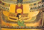 Aegy.Geflügelte Isis, i.symbolischer Gestalt e.Raubvogels.KK