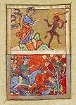 Versuchung Christi. Einzug in Jerusalem, 1. Hälfte 13.Jh. KK
