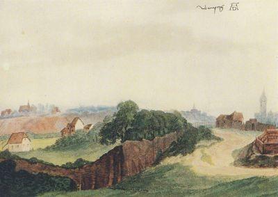 Albrecht Dürer. Nürnberg, von Westen gesehen, um 1495-97